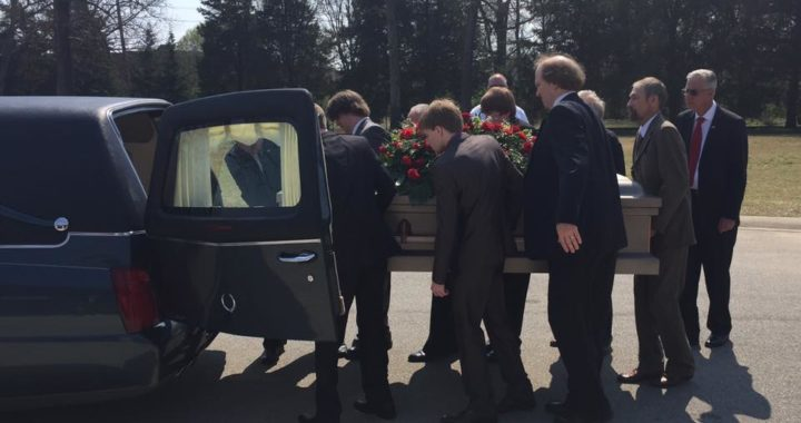 my mother's funeral