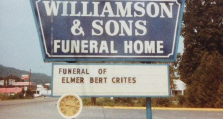 funeral home sign