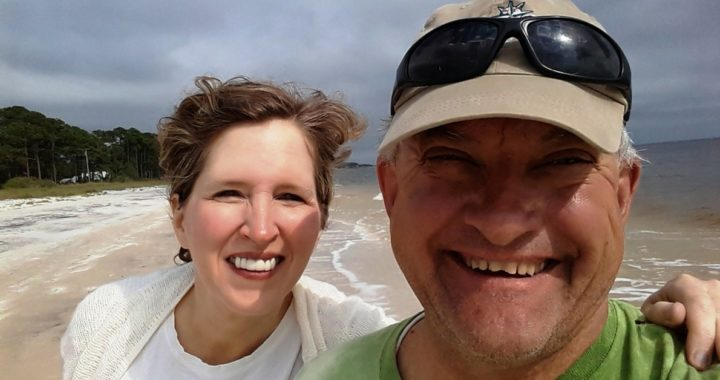 marnie and dave at Carabelle Beach, Florida